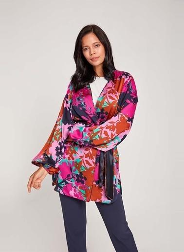 Mizalle Kimono Mor